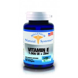 VITAMINA E 1000 UI+ZINC 60 SG*NATURAL SYSTEMS