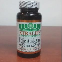 FOLIC ACID-ZINC 100 CAP * XTRALIFE