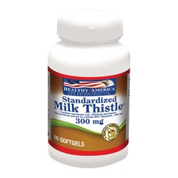 MILK THISTLE 300 MG (SILIMARINA) 90 SG * HEALTHY AMERICA