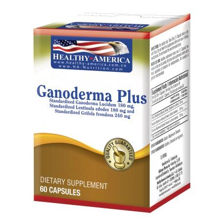GANODERMA PLUS 60 CAP * HEALTHY AMERICA.
