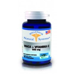 MACA+VITAMINA C 500 MG  60 CAP*NATURAL SYSTEMS