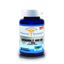 VITAMINA E 400 UI+ZINC 60 SG*NATURAL SYSTEMS