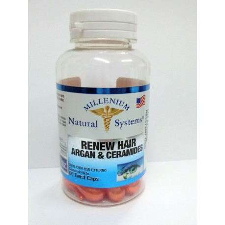 RENEW HAIR ARGAN & CERAMIDES 60 TWIST CAPS * NATURAL SYSTEMS