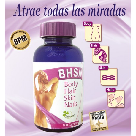BHSN – BODY-HAIR–SkIN-NAILS  100 CAP* NATURAL FRESHLY.