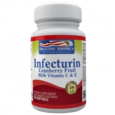 INFECTURIN (CRANBERRY-ARANDANOS) 100 MG 100 SG * HEALTHY AMERICA.