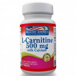 L-CARNITINA 500 MG 60 TAB * HEALTHY AMERICA