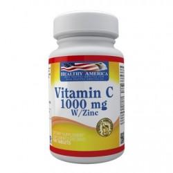 VITAMINA C 1000 MG 100 CAPS * HEALTHY AMERICA