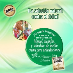 POMADA RUBEFRESH VERDE-DOLOR ARTICULACIONES * 25 GR. NATURAL FRESHLY