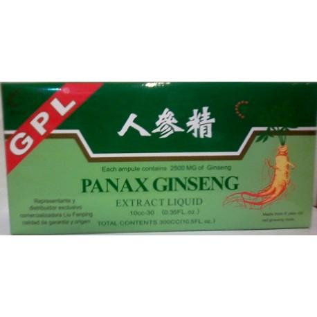 GINSENG PANAX * 30 AMPOLLAS * LIU FENPING