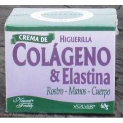 CREMA DE COLAGENO & ELASTINA 60 GR*NATURAL FRESHLY