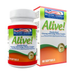 ALIVE(GINSENG CON GINKGO BILOBA) 60 SG *HEALTHY AMERICA