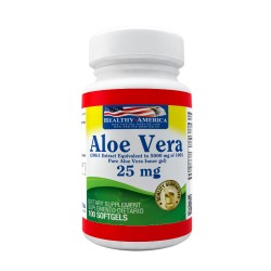 ALOE VERA  25 MG * 100 SG * HEALTHY AMERICA